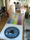 Artwork title: Back from the print shop Artwork medium photo