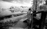 Artwork title: Christie with flower, Vicksburg, Mississippi Artwork medium infrared gelatin silver print